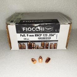 N.500 PALLE RAMATE FIOCCHI CAL 9 mm RNCP 123 grs