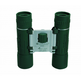 BINOCOLO TASCABILE 10x25 C.F. ACTION ruby coated, gommato verde